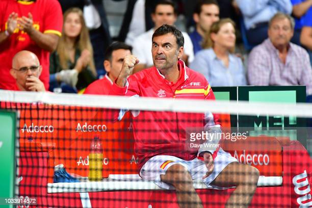 Spain team captain Sergi Bruguera during Day 2 of the Davis Cup semi final on September 15 2018 in Lille France