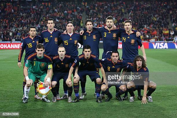 Spain team group