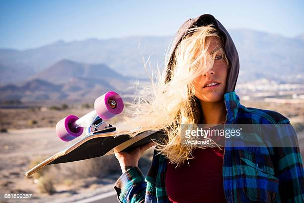 Spain, Tenerife, blond young skater