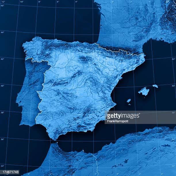 Mapa de España Topographic