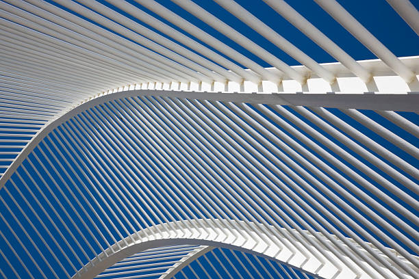Spain, Valencia, City of Arts and Sciences, Garden walkway roof, close-up, low angle view