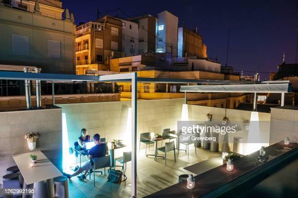 Spain, Valencia, Vincci Mercat hotel, rooftop restaurant.