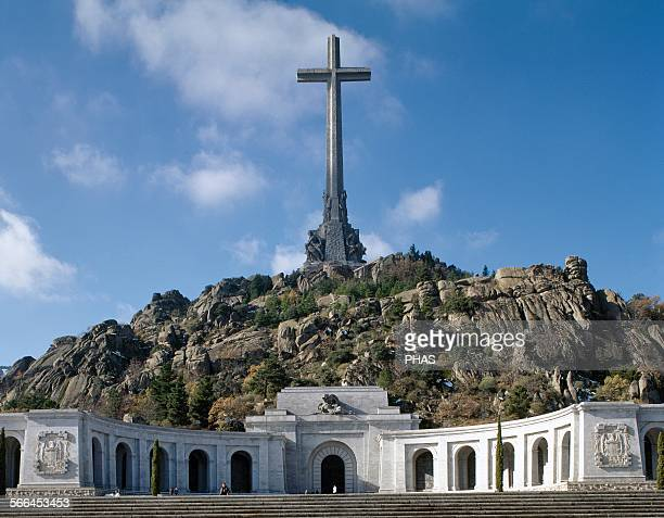 Spain Valley of the Fallen 19401958 Monumental memorial dedicated by the Franco regime to the dead of the Spanish Civil War By Pedro Muguruza and...