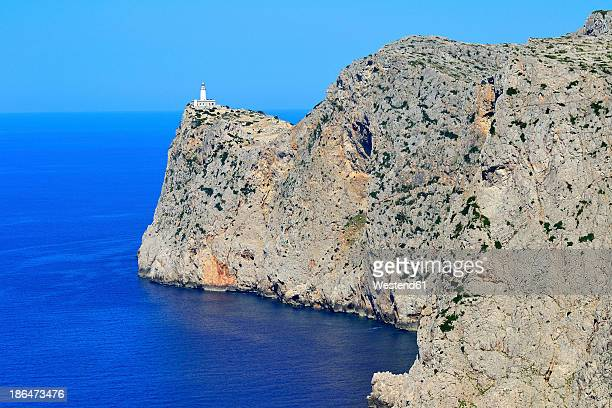 Spain, View of lighthouse at Cap Formentor