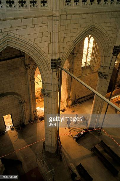 Spain Vitoria Cathedral of Santa Maria Archaeological restoration of the cathedral Works in the Chapel of San Bartolome