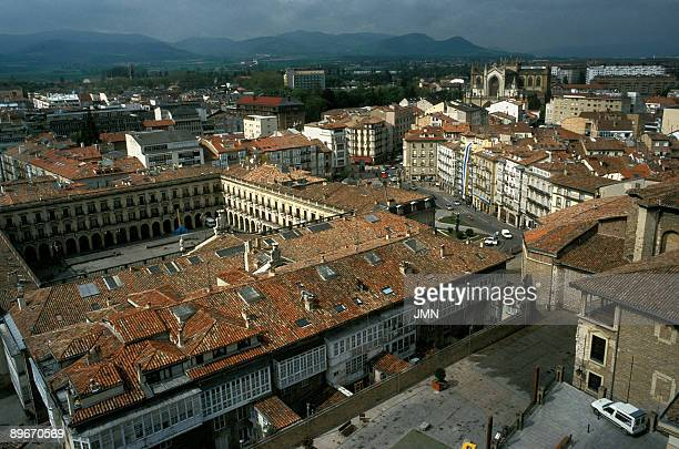 Spain Vitoria Old City Spain Square and Cathedral
