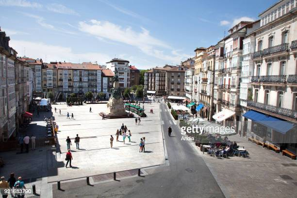 VitoriaGasteiz capital city of the province of Araba and of the Basque Autonomous Community Virgen Blanca Square