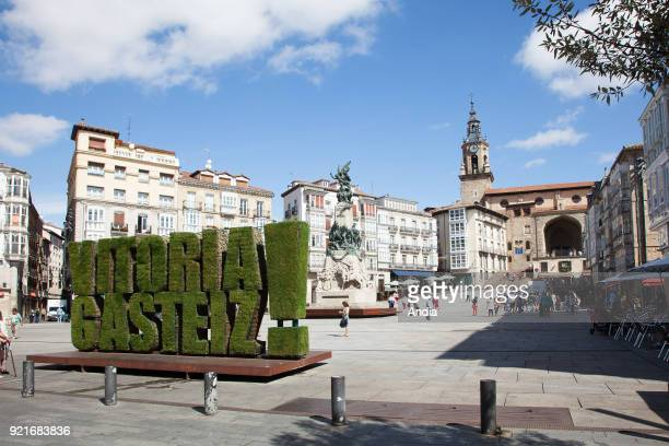 Vitoria-Gasteiz, capital city of the province of Araba and of the Basque Autonomous Community. Virgen Blanca Square .