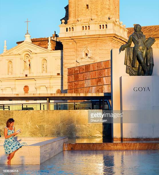 Spain,  Zaragoza, Francisco Goya monument