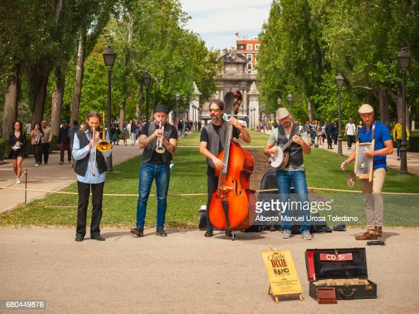Spain,Madrid, Retiro Park, Barba Dixie Band