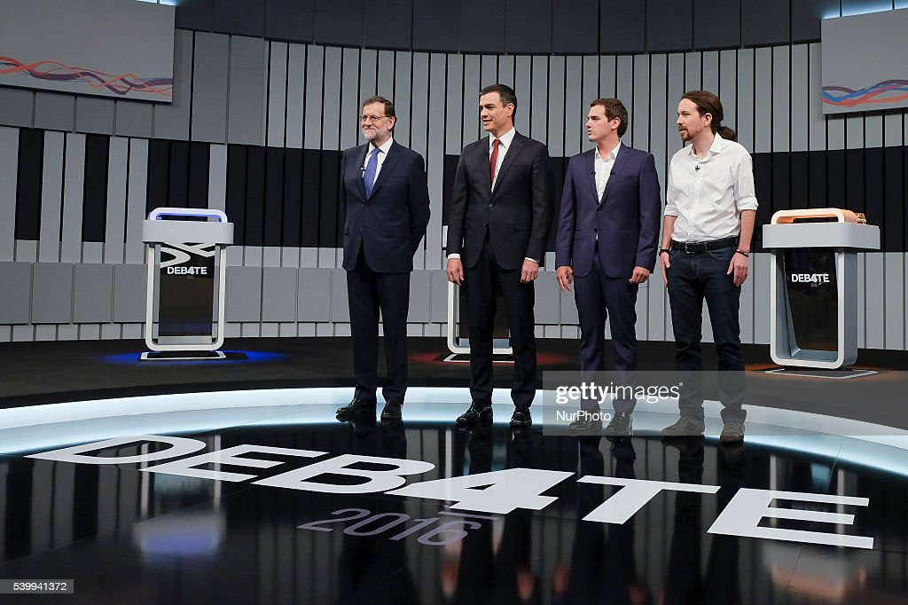 Televised electoral debate in Madrid