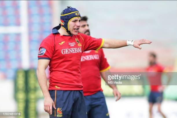 Spain's Alvar Gimeno The Rugby Europe International Championship round three match between Romania and Spain at Botosani Municipal Stadium on...