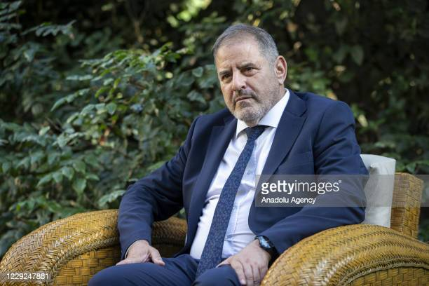 Spain's Ambassador to Ankara, Fransisco Javier Hergueta Garnica speaks during an exclusive interview with Anadolu Agency in Ankara, Turkey on October...