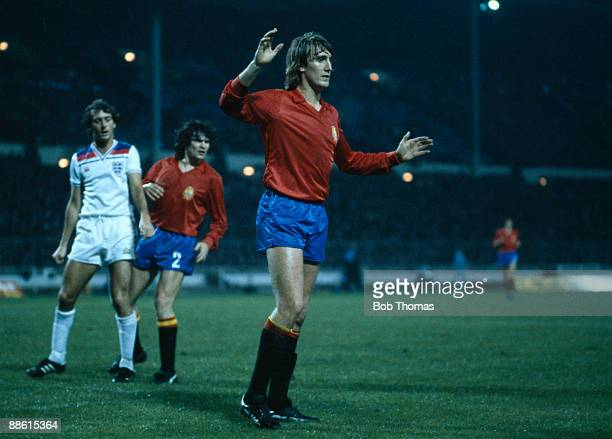 Spain's Antonia Maceda during the friendly International match between England and Spain at Wembley Stadium 25th March 1981 Spain won 21