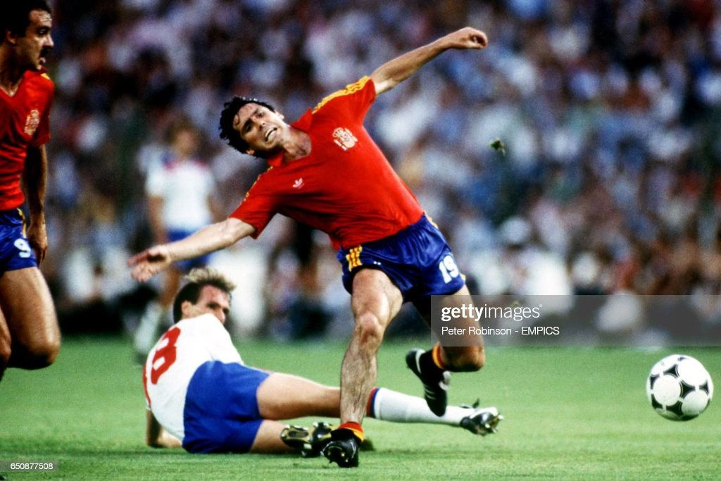 Soccer - World Cup Spain 82 - Group B - England v Spain : News Photo