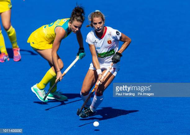 Spain's Cristina Guinea during the Vitality Women's Hockey World Cup bronze medal match at The Lee Valley Hockey and Tennis Centre London PRESS...