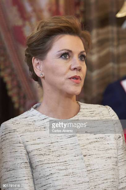Spain's Defence Minister Maria Dolores de Cospedal attends the Pascua Militar ceremony at the Royal Palace on January 6 2018 in Madrid Spain