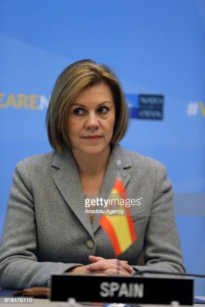 Spain's Defence Minister Maria Dolores de Cospedal attends the signing ceremony of Letter of Intent on participating of Poland and Canada to Multi...