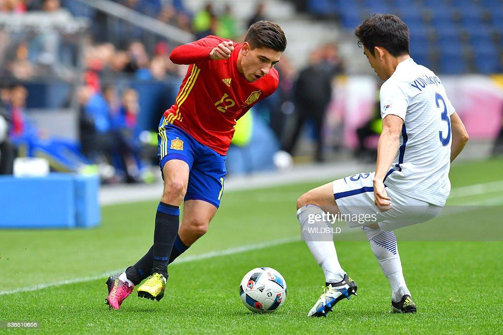 FBL-EURO-2016-FRIENDLY-ESP-KOR : News Photo