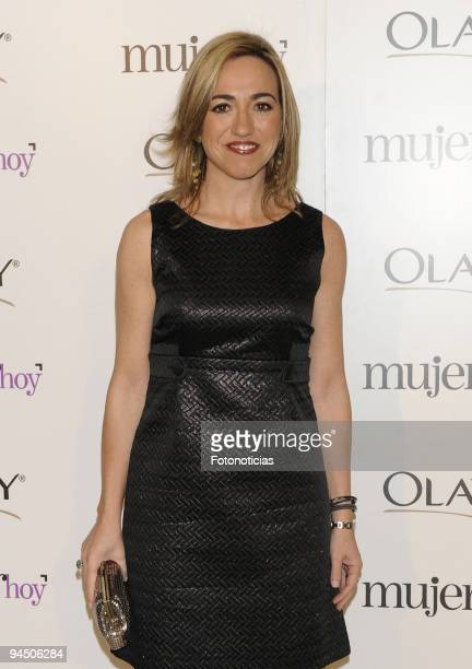 Spain's Defense Minister Carme Chacon attends the 'Mujer Hoy' 2009 Awards at ABC building on December 9 2009 in Madrid Spain