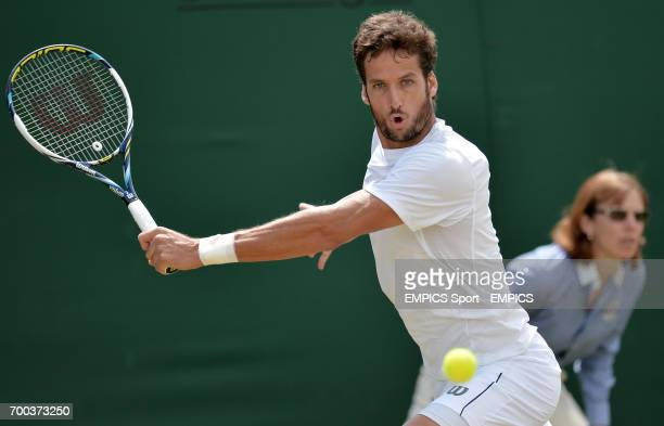 Spain's Feliciano Lopez in action against Croatia's Ante Pavic