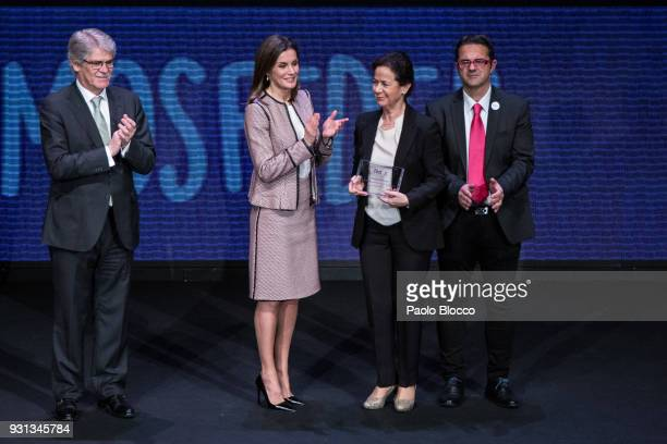 Spain's Foreign Minister Alfonso Dastis and Queen Letizia of Spain attend the Rare Diseases official day event at Goya Theater on March 13 2018 in...