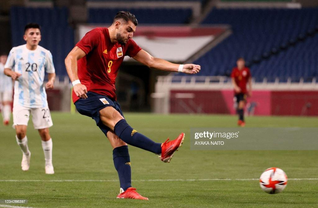 FOOTBALL-OLY-2020-2021-TOKYO-ESP-ARG : News Photo