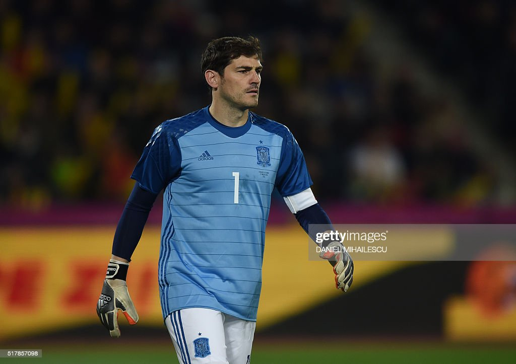 845079ee57c Spain s goalkeeper Iker Casillas is pictured during the friendly ...