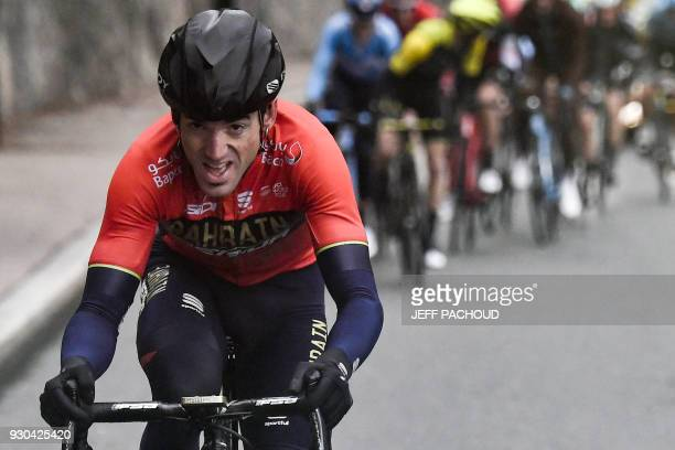 Spain's Ion Izagirre rides in a breakaway during the 110 km eighth and last stage of the 76th edition of the ParisNice cycling race in and around...