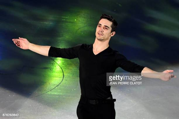 Spain's Javier Fernandez performs during the Champions' gala at the end of the Internationaux de France ISU Grand Prix of Figure Skating in Grenoble...