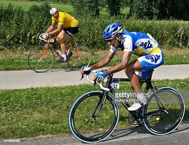 Spain's Jose Luis Arrieta rides during his breakaway as a cyclist amateur rides by in the 2165 km third stage of the 93rd Tour de France cycling race...