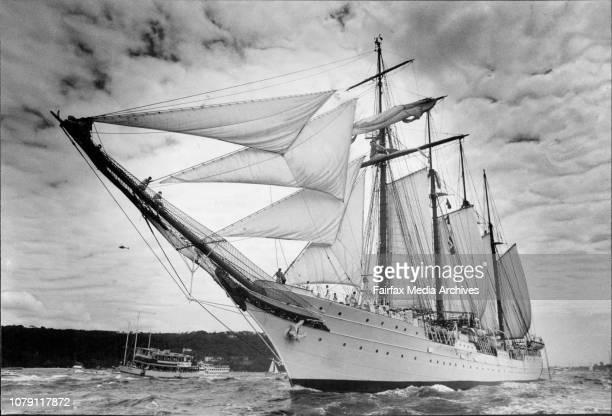 Spain's Juan Sebastian de Elcano departs after tomorrow January 19 1988