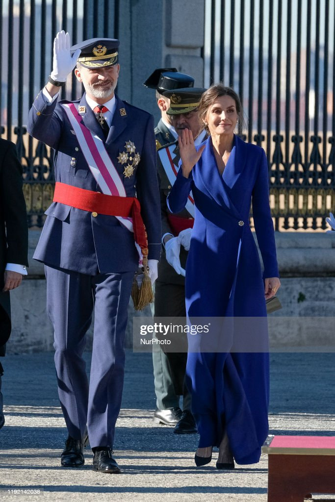 Kings Of Spain In Day Of The Easter Military : News Photo