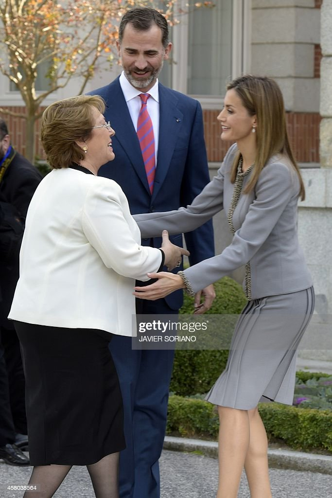 SPAIN-CHILE-ROYALS-DIPLOMACY : News Photo