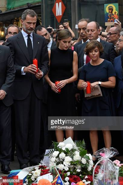 Spain's King Felipe VI Spain's Queen Letizia and Spanish vicePresident of the Government and Minister of the Presidency and of the Regional...
