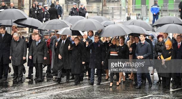 Spain's King Felipe VI, the President of the European Commission Jean-Claude Juncker, Lithuania's President Dalia Grybauskaite, Denmark's Prime...