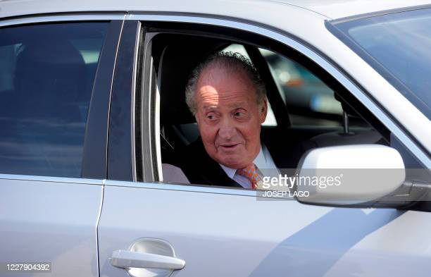 Spain's King Juan Carlos I leaves the Planas Hospital in Barcelona, on June 12, 2011. Two days prior, surgeons successfully operated on Spain's...