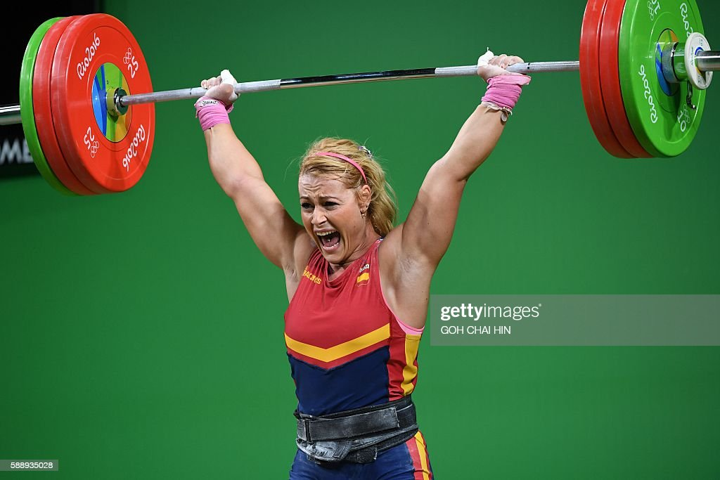 Schön Spainu0027s Lidia Valentin Perez Competes During The Womenu0027s Weightlifting 75kg  Event During The Rio 2016 Olympics