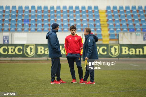 Spain's Lucas Guillaume and staff members prior the Rugby Europe International Championship round three match between Romania and Spain at Botosani...