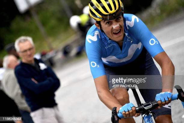 Spain's Marc Soler rides in second place during the twentieth stage of the 106th edition of the Tour de France cycling race between Albertville and...