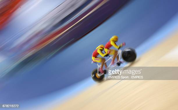 Spain's Miguel Angel Clemente Solano and Diego Javier Munoz during Qualifying of the Men's Indivdual B Pursuit
