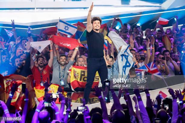 Spain's Miki performs the song La Venda during the Grand Final of the 64th edition of the Eurovision Song Contest 2019 at Expo Tel Aviv on May 18 in...