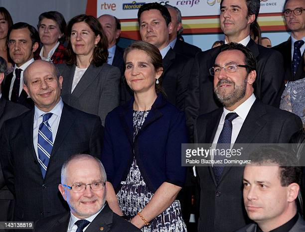 Spain's Minister of Education Culture and Sport Jose Ignacio Wert Ortega Princess Elena of Spain and President of the Spanish Paralympic Committee...