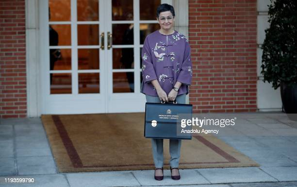 Spain's Minister of Foreign Affairs Arancha Gonzalez Laya attends the first cabinet meeting of the new government in Madrid Spain on January 14 2020
