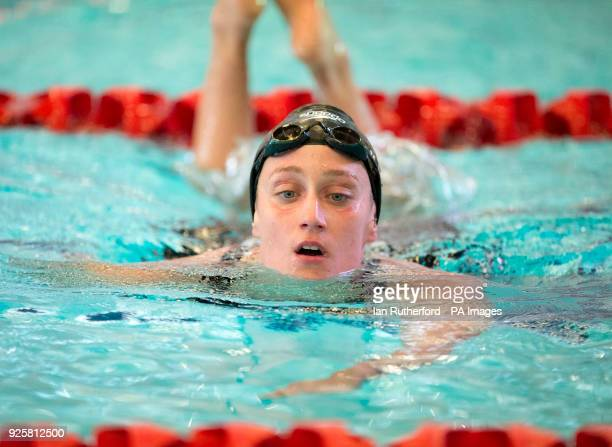 Spain's Mireia Belmonte after winning her heat in the Women's 400m IM during day one of the 2018 EISM and British Championships at the Royal...