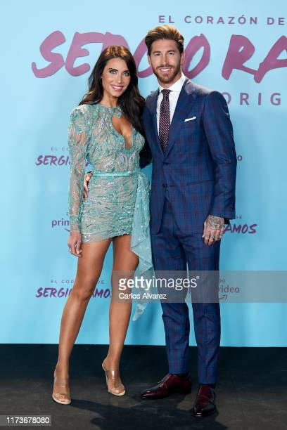 Spain's National Team and Real Madrid captain Sergio Ramos and wife Pilar Rubio attend the premiere of his documentary series regarding his personal...