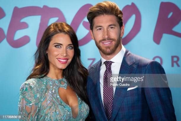 Spain's National Team and Real Madrid captain Sergio Ramos and wife Pilar Rubio attend El Corazon de Sergio Ramos premiere at the Reina Sofia museum...