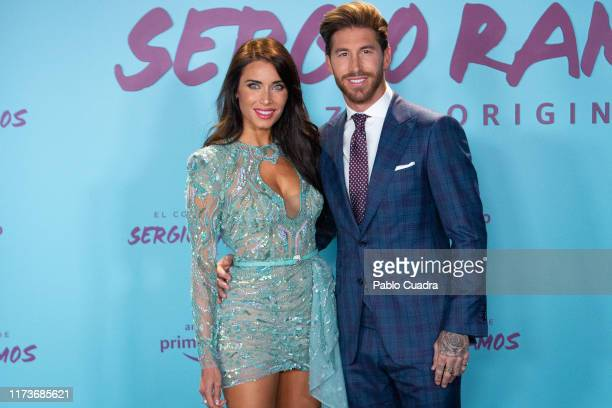 """Spain's National Team and Real Madrid captain Sergio Ramos and wife Pilar Rubio attend """"El Corazon de Sergio Ramos"""" premiere at the Reina Sofia..."""