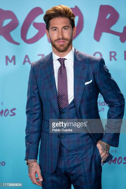 "Spain's National Team and Real Madrid captain Sergio Ramos attends ""El Corazon de Sergio Ramos"" premiere at the Reina Sofia museum on September 10,..."