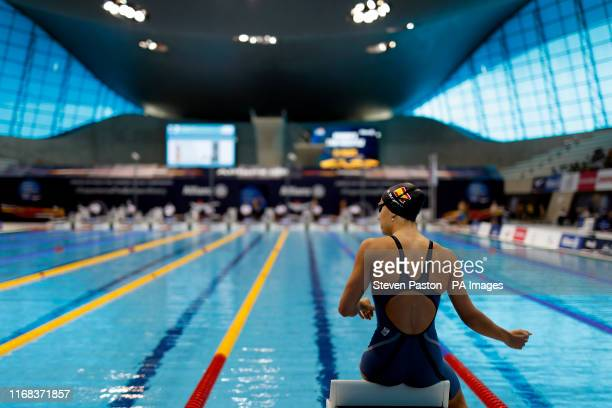 Spain's Nuria Marques Soto during the Women's 50m Freestyle S9 Heat 2 during day seven of the World Para Swimming Allianz Championships at The London...